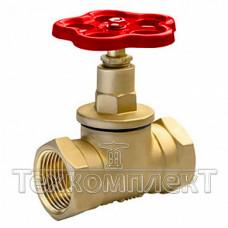 Клапан запорный латунный муфтовый (Вентиль) 15Б1п, Ду 32