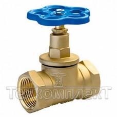 Клапан запорный латунный муфтовый (Вентиль) 15Б3р, Ду 32